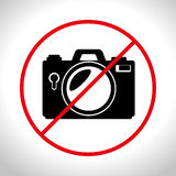 no photo camera prohibited design graphic Royalty Free Stock Images