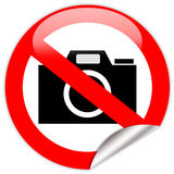 No photo camera sign Royalty Free Stock Images