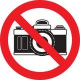 No photo camera sign. No photo camera allowed sign royalty free illustration