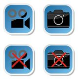 No photo camera sticker sign Royalty Free Stock Image