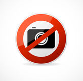 No photo camera vector sign isolated Stock Photography