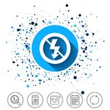 No Photo flash sign icon. Lightning symbol. Stock Image
