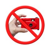 No Photo, Forbidden Sign isolated on White background Stock Photos