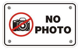 No photo rectangle sign Stock Photo