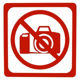 No photo sign. Isolate on white Stock Photo