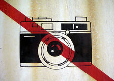 No photo sign Royalty Free Stock Photography
