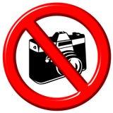 No photographs 3d sign Royalty Free Stock Image