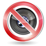 No photography allowed sign Royalty Free Stock Photos