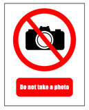 No photography markers Stock Photography