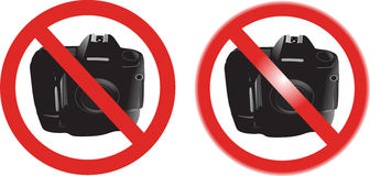 No photography sign Stock Photography