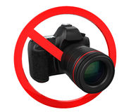 No Photography Sign Stock Photo