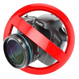 No photography sign.  Photo camera prohibition Royalty Free Stock Images
