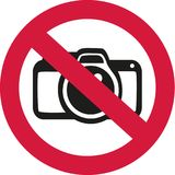 No photos allowed. Occupation vector Stock Images