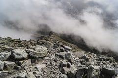 No pico de montanha Imagens de Stock
