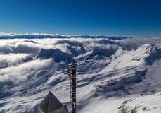 No pico de Zugspitze, Alemanha Imagem de Stock Royalty Free