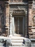 No picture sign at the entrance of temple of the Emerald Buddha, Phnom Penh stock photo