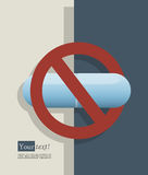 No pills blue Royalty Free Stock Images