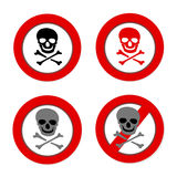 NO PIRATE signs set Stock Photography