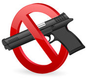 No pistol sign Royalty Free Stock Photos