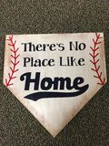 No place like home. Home plate baseball royalty free stock image
