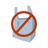 No Plastic Bag Icon Stock Photos