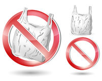 No plastic bag sign Royalty Free Stock Photos