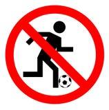 No play or football sign,  illustration Stock Photos