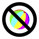 No playing with ball Royalty Free Stock Photos