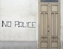No police, graffiti Stock Photo