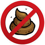 No poop sign Royalty Free Stock Photography