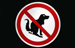 No pooping by dogs sign isolated Stock Photos