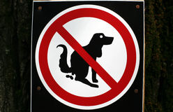 No pooping by dogs sign isolated Royalty Free Stock Image