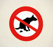 No pooping by dogs sign Royalty Free Stock Image