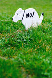 No Pooping On The Grass Sign Stock Image