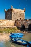 No porto de Essaouira fotografia de stock