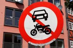 No power-driven vehicles Stock Image