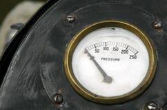 No pressure. Zero pressure industry metaphor using vintage gauge Royalty Free Stock Photography