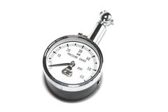 No pressure at all. Pressure gauge indicating less then zere, added grung look Royalty Free Stock Photo