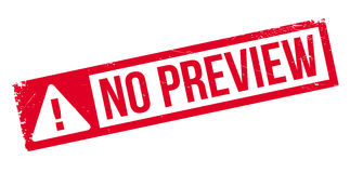 No Preview rubber stamp Royalty Free Stock Photography