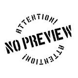 No Preview rubber stamp Stock Images