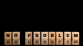 No Problem On A Row Of Wooden Blocks Stock Photos