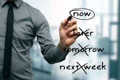 No procrastination -  do it now Stock Photography