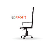 No profit with chair  Royalty Free Stock Photos