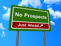 No prospects just ahead sign Royalty Free Stock Photos