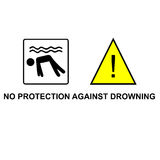 No protection against drowning vector Stock Image