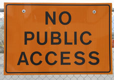 No public access sign Stock Photos