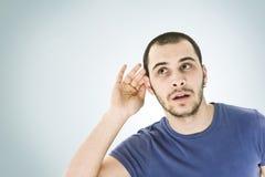 ¡No puede oírle! Imagenes de archivo