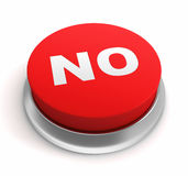 No push button concept 3d illustration Stock Image