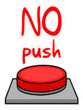 No push Stock Image