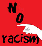 No Racism Concept Design Royalty Free Stock Photo